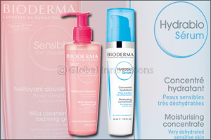 BIODERMA Hydrabio Serum and Sensibio Gel moussant
