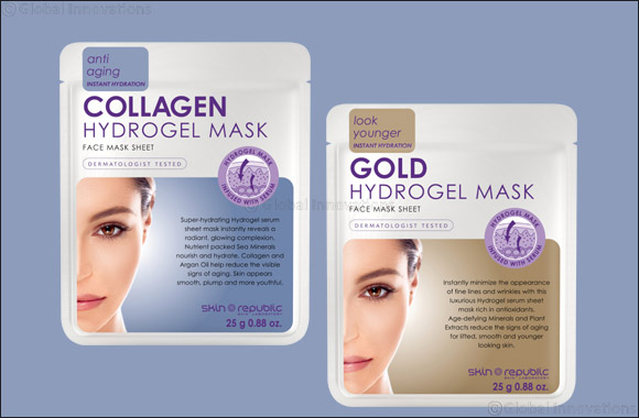 Stay healthy & hydrated  with Skin Republic Hydrogel Masks