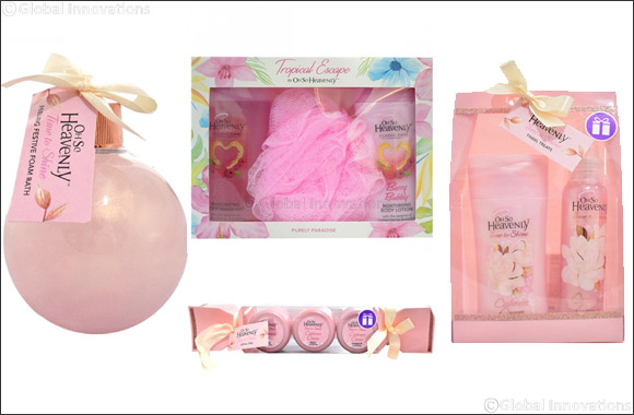 Oh So Heavenly!  Bath Sets from Glambeaute.com that make a great gift this festive season
