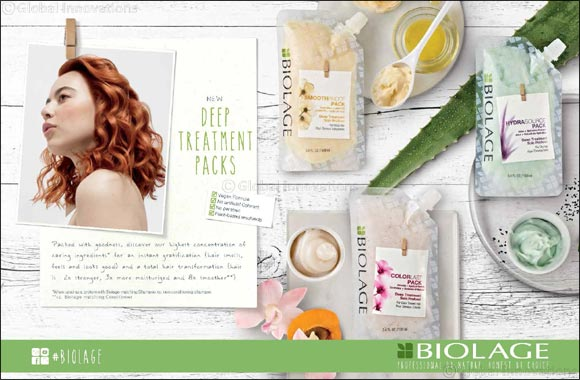 3 ways to give your hair the power of plants, with 3 new highly concentrated hair masks from Biolage, packed with goodness for everyone.
