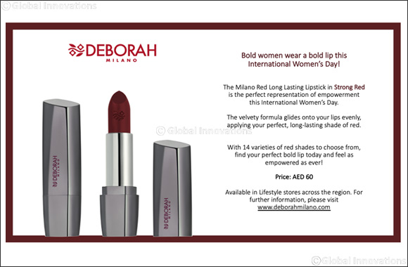 Deborah Milano - International Women's Day - Milano Red Long Lasting Lipstick