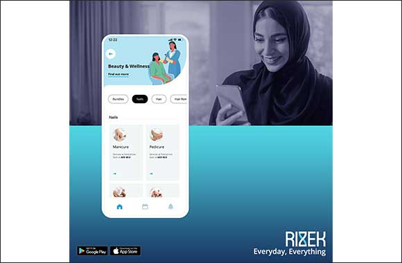 Review of RIZEK app for beauty services.